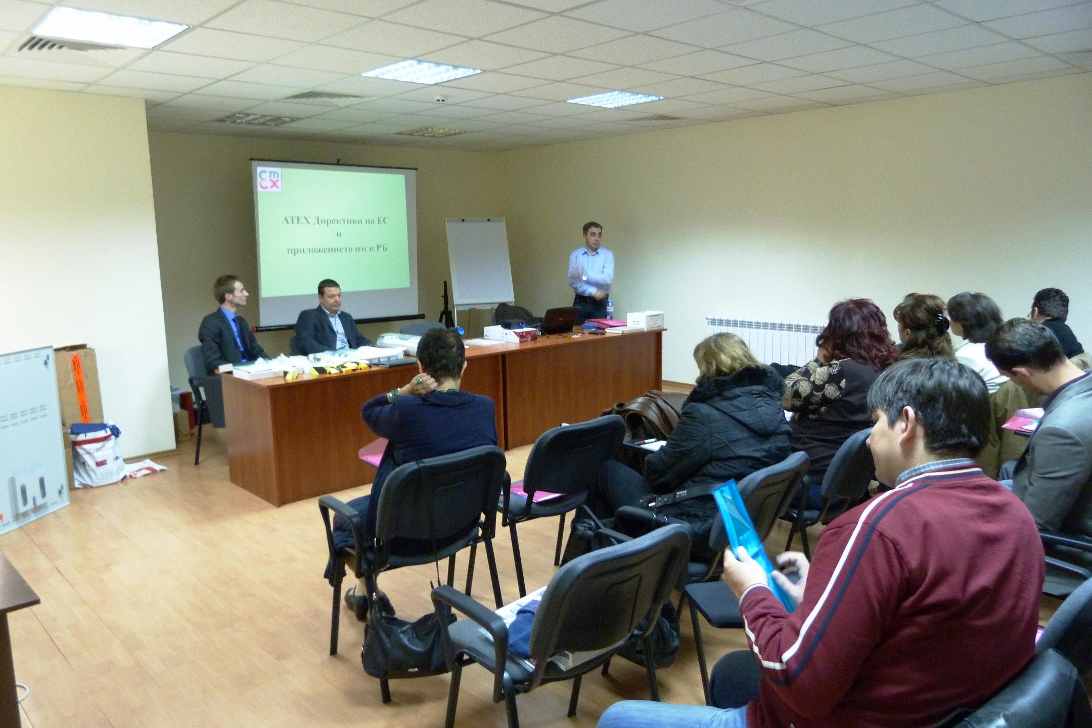 Водещи лектори на семинара от фирма AWEX, Полша и ЕМЕКС България ООД